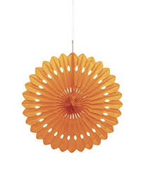 paper fan 16 orange tissue paper fan decoration kitchen dining