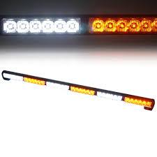 warning light bar amber white amber traffic advisor strobe light bar kit xprite