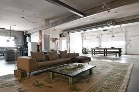 chic home interiors from garage to industrial chic home