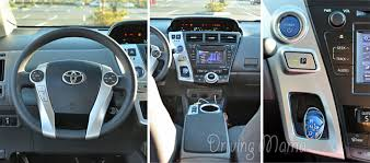 toyota prius 2014 review toyota prius v family hybrid review dashboard controls and gears