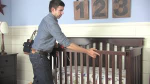 Crib That Converts To Twin Size Bed by How To Convert A Kendall Crib Into A Toddler Bed Pottery Barn