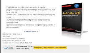 free ebook downloads for android free ebook android on x86 an introduction to optimizing