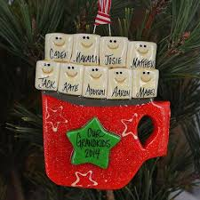 personalized large family cocoa cup ornament large families