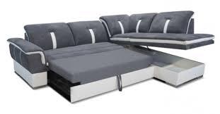 canap meridienne convertible canape d angle à gauche convertible galaxia blanc gris pour canapé