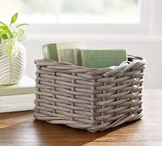 personalized basket decorative personalized basket pottery barn