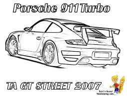 porsche 911 turbo coloring pages
