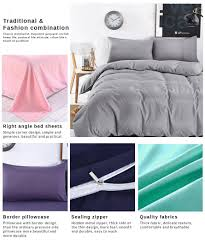 Practical Bedding Set Navydaly Fashion Style Bedding King Size Bed Sheet With Bolster