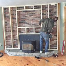 two story brick fireplace makeover brick fireplace makeover to