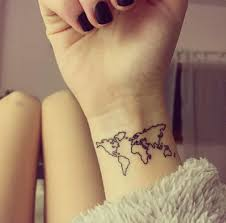 40 world map tattoos that will ignite your inner travel bug map