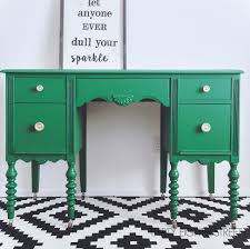 Painted Furniture Ideas Before And After Emerald Green Painted Desk Makeover Thirty Eighth Street