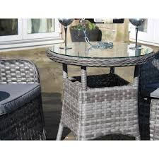 Grey Bistro Table Grey Rattan Outdoor 3 Bistro Set Garden Furniture