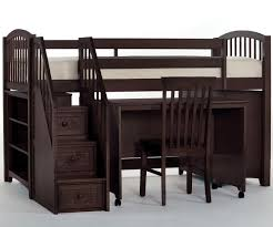 Bunk Beds Espresso Sizable Bunk Bed With Desk And Stairs School House Espresso