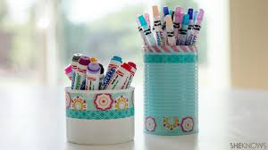 cute diy pencil holders help tame clutter