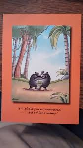 free anniversary card by the far side happy anniversary to a