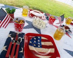 Red White Flag With Blue Star Soniar Memorial Day Or Fourth Of July Table Red White Blue