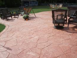 Colored Concrete Patio Pictures Pasadena Stamped Concrete Patio Maryland Curbscape