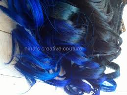 blue hair extensions black vibrant blue hair extensions ombre dip medium hair styles