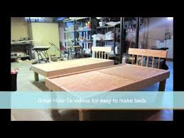how to make a bed easy to build kids twin bed youtube