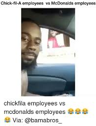 Chick Fil A Meme - chick fil a employees vs mcdonalds employees chickfila employees vs