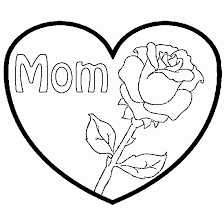 hearts and roses coloring pages mother u0027s day a rose and a