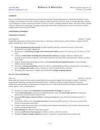 It Consultant Resume Rebecca Moericke Marketing And Communications Consulting Resume 022815