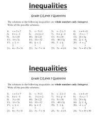 all worksheets solving inequalities worksheets printable