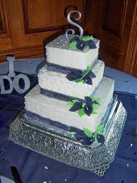 silver wedding cakes tasty layers square wedding cakes flint burton michigan