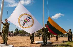 Flag Ceremony Meaning File Lithuanian Soldiers Hoist Their National Flag During An