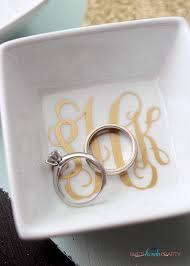 monogrammed ring diy monogrammed ring dish shes kinda crafty
