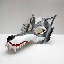 big bad wolf halloween leather mask costume animal werewolf