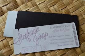 Magnetic Save The Dates Boarding Pass Wedding Invitations Boarding Pass Save The Date