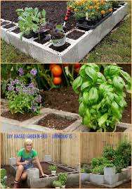 cinder block garden picmia