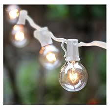 Outdoor Light Globe G40 String Lights With 25 Globe Bulbs Ul Listed For Indoor Outdoor