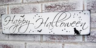happy halloween sign black and white happy halloween sign halloween party decoration halloween door