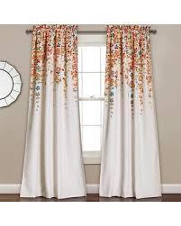 Multi Color Curtains Deal Alert Half Moon 2 Pack Weeping Flowers Window Curtains