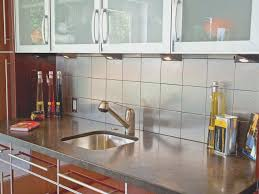 backsplash fresh kitchen with metal backsplash home decoration