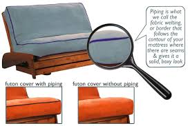 custom piping futon covers the futon shop