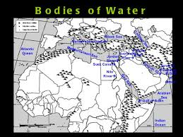middle east map water bodies middle east geography