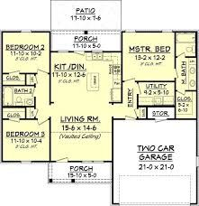 Split Bedroom Plan 3 Bedroom 2 Bath 1300 Square Foot One Story House Widen House To