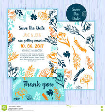 rustic save the date invitation card template with stock vector