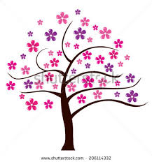 floral tree stock vector 41306086