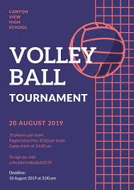 volleyball poster templates canva