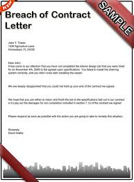 how to write a breach of contract letter sample