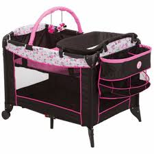 Pink Changing Table by Playpen With Changing Table Playpen Baby Crib Portable Minnie