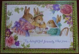 susan wheeler cards susan wheeler pond hill bunny rabbits friend card punto de