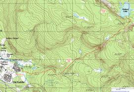 Topographical Map Of New Mexico by Topographic Map Of The Mallard Lake Trail Yellowstone National
