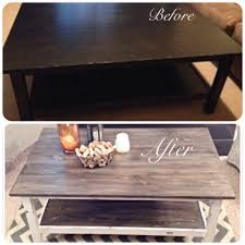 ikea coffee table use to be all black now it u0027s been given a