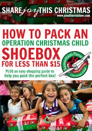 how to pack an operation christmas child shoebox for less than 15