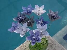 fairyland paper flowers with stem origami kusudama paper