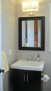 bathroom yellow and gray interior design